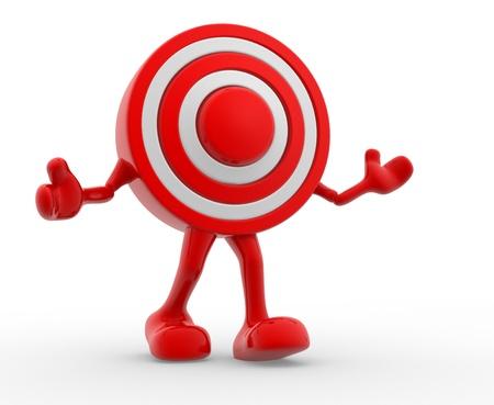 precisely: Target. 3d render illustration Stock Photo