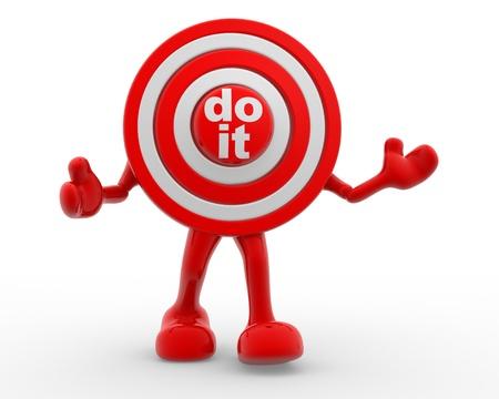 "3d target and text ""Do it"". 3d render Reklamní fotografie"