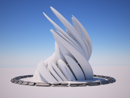 futuristic city: 3d Abstract Architecture. 3d render illustration