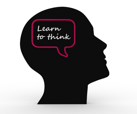 3d human head and text, Learn to think Stock Photo - 17532554