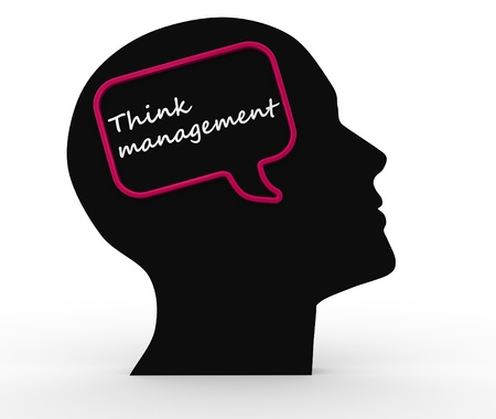 3d human head and text,Think management Stock Photo - 17532558