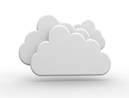 3D white cloud. 3d render  Banque d'images