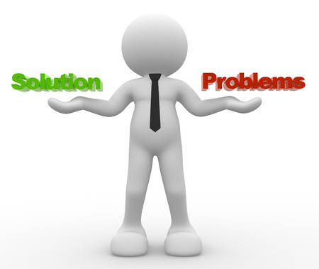 3d people - man, person and worlds SOLUTION or PROBLEMS Standard-Bild - 32013353