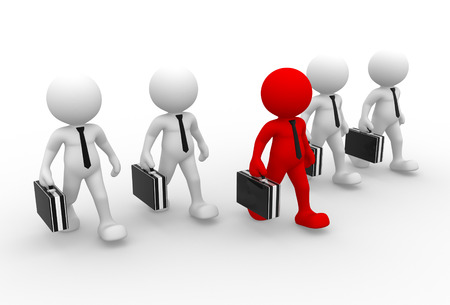 business briefcase: 3d people - man, person with a briefcase. Businessman. Teamwork