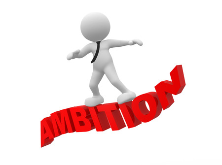 ambition: 3d people - man, person flying. Ambition