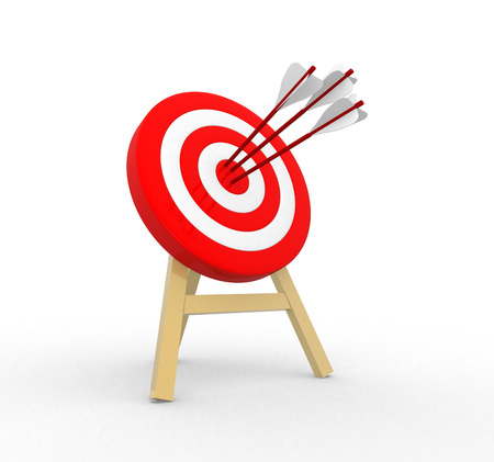 3d target and arrows Stock Photo
