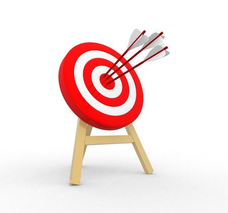 3d target and arrows Archivio Fotografico
