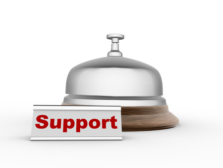 3d bell allarm. Support concept Stock Photo