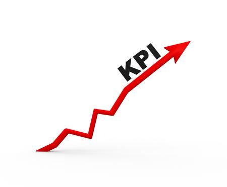 kpi: 3d arrow and KPI ( Key performance indicator) Stock Photo