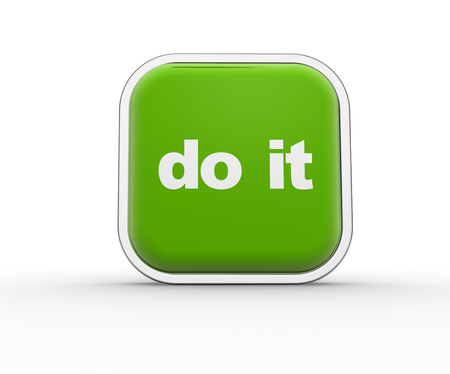 just do it: 3d render button and text Do it