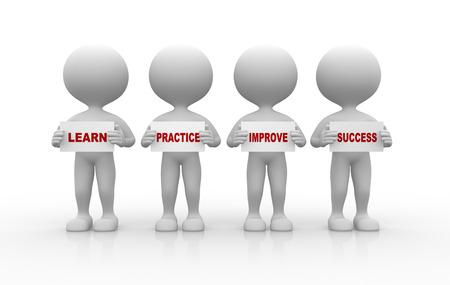 učit se: 3d lidí - člověče, člověk a deskové. Naučte se koncept Reklamní fotografie
