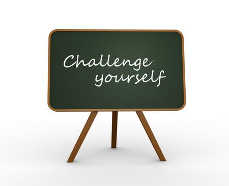 challange: 3d render blackboard and text Challenge yourself
