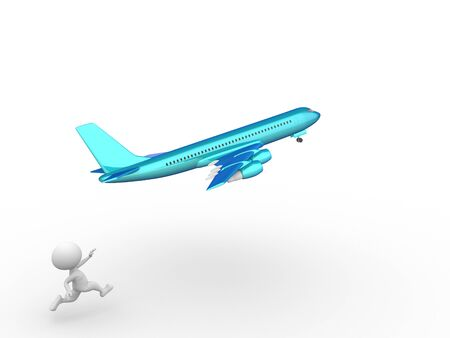 planar: 3d people - man, person with an airplane