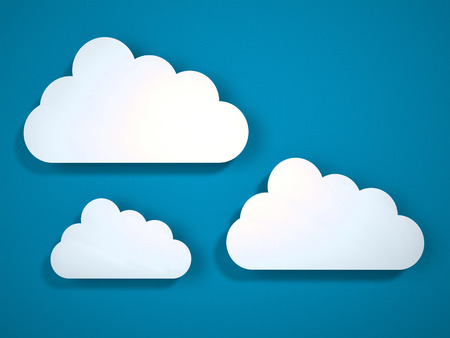 3d: 3d cloud icons. 3d render Stock Photo
