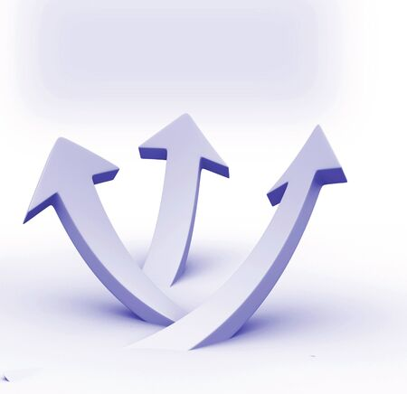 grouped: White arrows up grouped . Business success concept