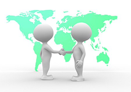 two people talking: 3d people - men, person and world maps - two people talking
