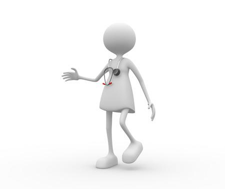 3d Frauen mit Stethoskop Arzt. Standard-Bild - 56302174