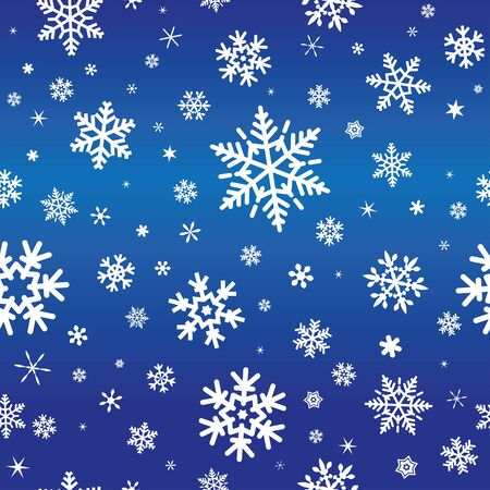 hintergrund: sameless pattern with snowflakes on blue background