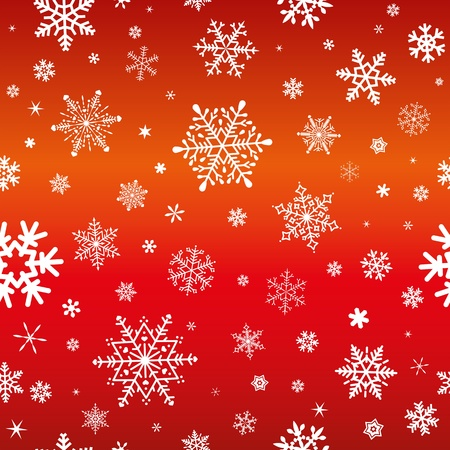 dekor: sameless pattern with snowflakes on red background