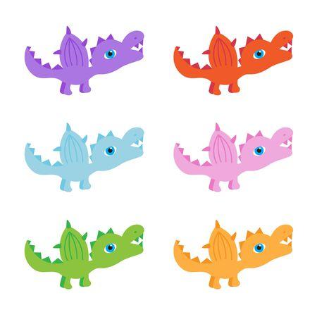 Six little dinosaurs.