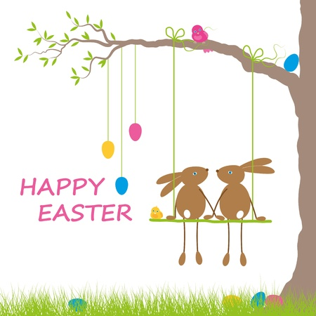 brown hare: Easter card