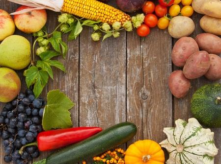 Rahmen mit Obst und Gemüse Standard-Bild - 16695076