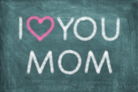 te quiero: Pizarra con letras Te amo mamá