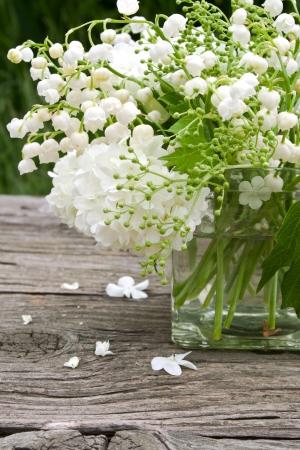 muguet: vase with muguet and snowball