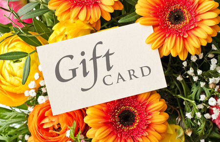 buttercups: bouquet with gerbera and buttercups with gift card