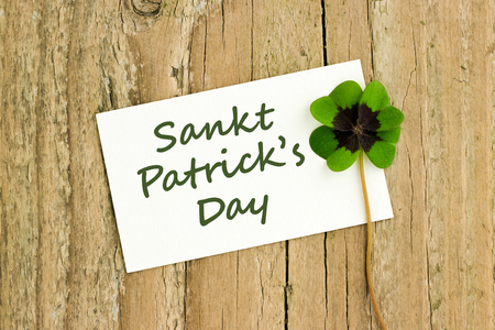St  Patrick s day card with leafed clover Reklamní fotografie
