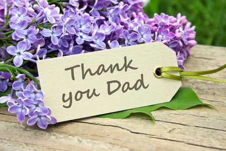 engels Father's Day-kaart met lila