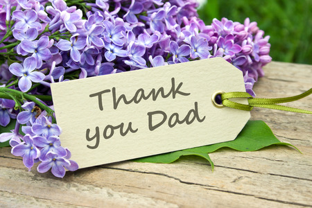 english Father s Day card with lilac Reklamní fotografie