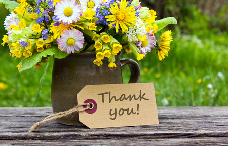 English thank you card with spring flowers stock photo picture and english thank you card with spring flowers stock photo 28385299 mightylinksfo