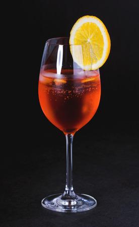mixed drink with fresh orange