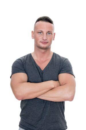 handsom: muscular, slim, young, handsome man