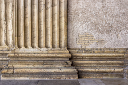 bases: Detail of a pilaster on the Pantheon in Rome