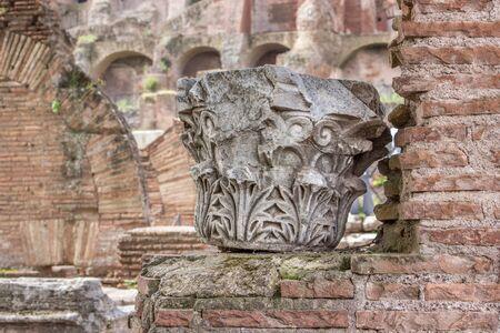 roman column: Capital a Roman column in the Roman Forum