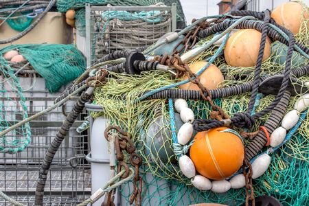 trawler net: Accessories for fishing on the Harbor
