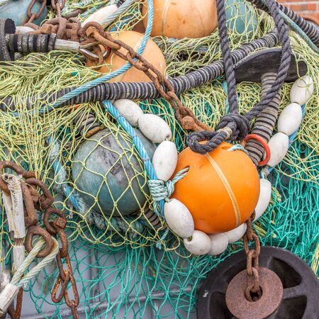 dockside: Accessories for fishing on the Harbor