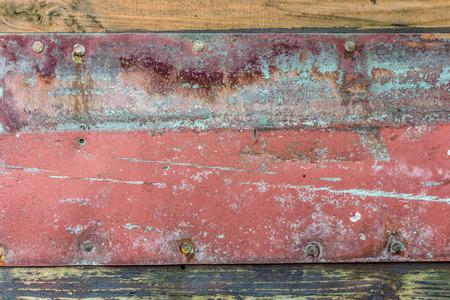 peeling paint: Old planks with peeling paint