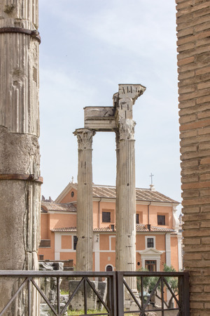 roman columns: Roman columns in the Roman Forum