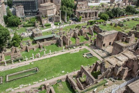 palatine: Overlooking the Roman Forum from Palatine hill in Rome