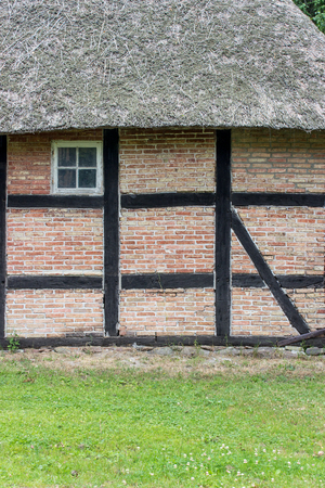 Detail of an old half-timbered house