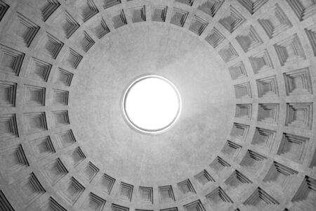 dome type: Dome of the Pantheon in Rome Stock Photo