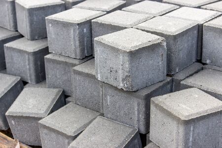 paving: Stack with Gray Paving stones