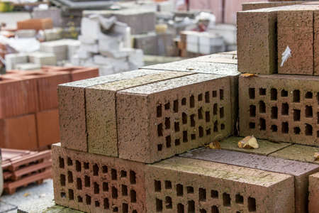 clinker: Stack with clinker bricks