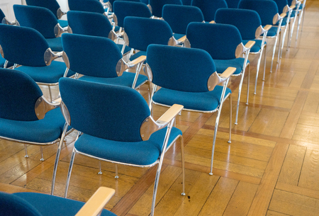 chairs: Seating with blue chairs