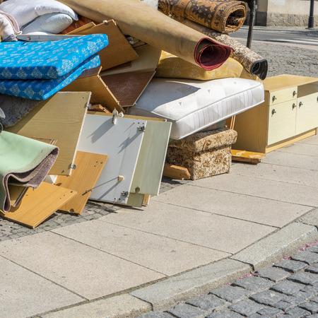 Pile of bulky waste Stock Photo