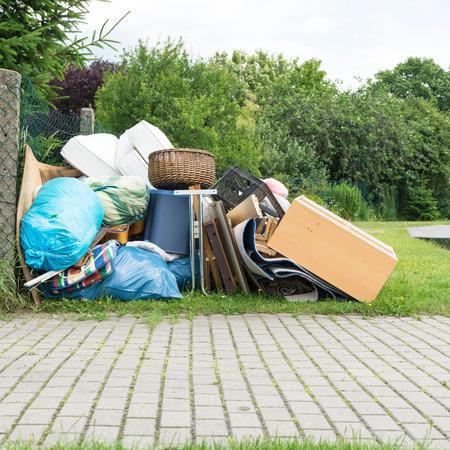 Pile of bulky waste Foto de archivo