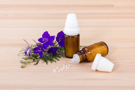 Homeopathic remedy with blooming aconite